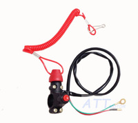 ATV Motorcycle Motorbike Normally Opened Break Tether Emergency Kill Stop Engine Switch Push Button Free shipping
