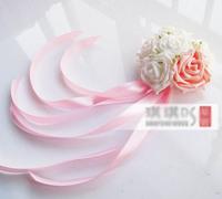 15 cm heart shaped total length 40 cm flower plate car door handle  rearview mirror flower decoration wedding car decoration A32