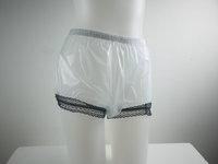 3 pieces ADULT BABY incontinence PLASTIC PANTS with lace P006-7 Size :M,L,XL,XXL