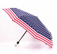 2014 free shipping fashion stars and stripes flag automatic umbrella travel windproof umbrella Rechar015