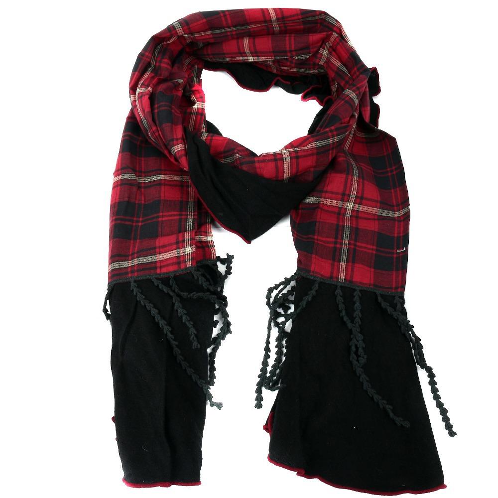 2014 new design fashion scarves plaid pattern
