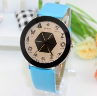 2014 Korean Super Star Combination EXO Watch,Leather Strap Watch,Simple Fashion Watches ML0286