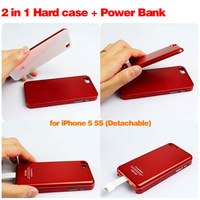 Red 2800mAh Magnetic Power Bank Adsorption Battery Charger Cover Case for Apple iPhone 5 5S 5G