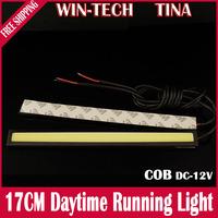 2pcs COB Car LED Daytime Running Light 17cm LED Car DRL lamp Fog Driving Light Super Bright
