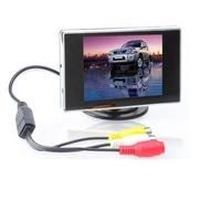 3.5-Inch TFT Color LCD Car Rear View Camera Monitor with Screen Rotating and 2 AV Inputs, Used with Car Rearview Cameras Car DVD