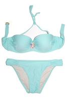 Vintage Floral Jewelry Swimming Suit for Women 2014 New Summer Bikini Swimwear Sexy Push Up Beachwear Bathing Suit