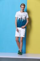 2014 men's new summer cotton short sleeve V-neck T-shirt  no:1408