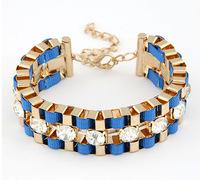 Sparkle Rhinestone Woven Chain Bracelet New Fashion Statement Bracelet cxt91285