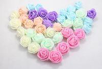 wholesale  PE foam rose flower handmade DIY wedding home decoration artificial flower made flower balls and hand flower