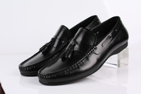 Men's Dress casual genuine leather Shoes Designer party fashion Slip on Loafers shoe Eur 37 to 44 Retail/wholesale Free shipping