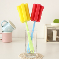 Creative kitchen sponge cup cleaning utensils clean scrub brush cup brush handle extension 36216