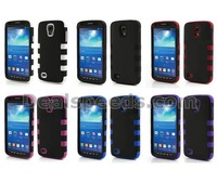 Rubberized Plastic & Silicone Hybrid Combo Cover for Samsung Galaxy S4 Active I9295 I537 with 6 Colors