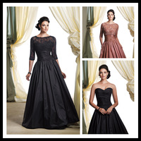 2014 A-Line scoop half sleeve mother of the bride dress with tank GYU-060