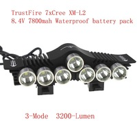 Trustfire TR-D013 Front Bicycle Light 7* CREE XM-L2 3 Mode 3200 Lumens Bike Light +8.4V 7800mAh 6x18650 Battery Pack +Charger