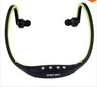 New 2014 Sport Wireless Earphones Headphones Music MP3 Player TF Card FM radio Headset  free shipping