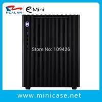 Realan Aluminum Mini ITX Micro ATX Gaming PC Desktop Computer Case E-M5