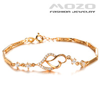 Free shipping wholesale new fashion jewelry love Cubic zirconia braclets for women 18K gold plated bracelets & bangles TY412