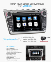 8 inch 2din Wince 6.0 OS Car Stereo  styling monitor For mazda6 Ultra 2008-2012+Free camera