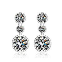 free shipping New fashion women high quality European and American polished zircon earrings pendants jewelry