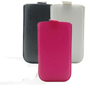 2014 New Pull Up Tab Strap Bag for fly iq440 PU Lichee Leather Pouch bags Cell Phone Cases