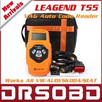 2014 New Arrival VAG Code Reader LEAGEND T55 FOR VW/Skoda/Seat QUICKLYNKS OBDII / EOBD Auto Diagnostic tool Multi-Language