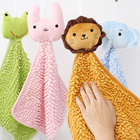 Creative Home cute animal chenille scarf handkerchief hanging towel wipes
