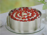 1PCS Mousse ring stainless steel circle mousse cake mould 6 - 12 adjustable retractable scraper FREE SHIPPING