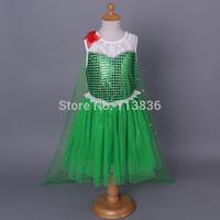 ELSA Frozen fairy baby children Girls sequined PRINCESS dresses kids summer clothing wholesale EL5DS404-88