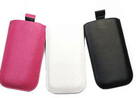 2014 New Pull Up Tab Strap Bag for lenovo a390 PU Lichee Leather Pouch bags Cell Phone Cases