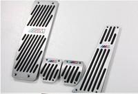 Free shipping for BMW for X1/X3/E46/E90/E92/E93/E87/3 department / new 1 Series skid metal accelerator pedals MT #4350