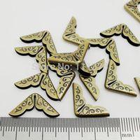 Free Shipping 200pcs/lot Antique Bronze Small Book Scrapbooking Albums Menus Folders Collar Corner Protectors 14x14mmx2.8mm