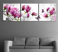 3 Piece Free Shipping Hot Sell Modern Wall Painting  flower Home Decorative Art Picture Paint on Canvas Prints xc10