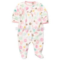 Retail Cute Carters Fleece Girls Romper Body Baby Overalls Jumpsuit 2014 Newborn Toddler Bebe Clothing Children Outerwear