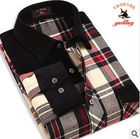 Brand New Quality Cotton Plaid Men Shirt Casual Leisure Men Business Long Sleeve Top Shirt Plus Large Size Men Shirt Blouse