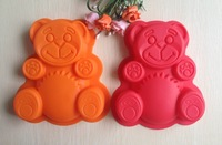 Free shipping 2PCS Lovely bear mold silicone mold cake mold cake tools baking tools B101