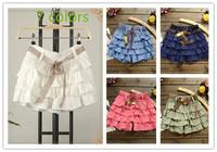 2015 new Woman Skirt Pleated Girls Sold Skirts Short Skirts girl Mini Skirt With Belt Free