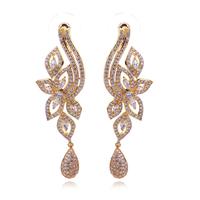 High quality 2014 18k gold plated earrings luxury women's earrings