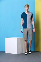 2014 men's new summer cotton short sleeve V-neck T-shirt  no:1430