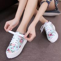 2014 canvas shoes female sport shoes casual low platform single shoes women sneakers size 35-40 shoes for women