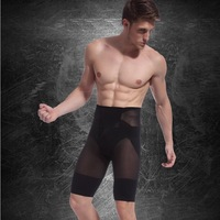 2014 Men's sexy body Shaper slimming pants translucent shorts loose weight Free Shipping