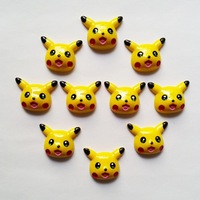Wholesale Bulk 10pcs Pokemon Pikachu Flatback Resin Cabochons Scrapbooking Hair Bow DIY Frame Craft RE-108
