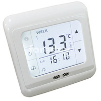 Weekly Programmable White Backlight Touch Screen Floor Heating Display Thermostat Powerful Anti Jamming Room T Controller