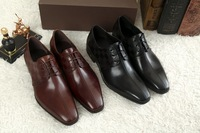 The new 2014 euramerican style all cowhide gentleman business high-quality goods of men's shoes free shipping