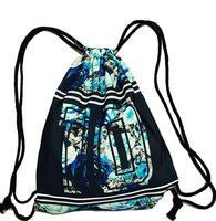 Blue Rose UnisexMale&female fashion bag GYM backpack draw string handbag