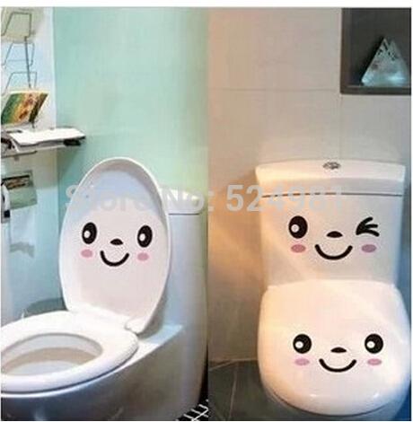 2014 New! Free shipping Smile face wall sticker toliet sticker fridge sticer washing machine sticker(China (Mainland))