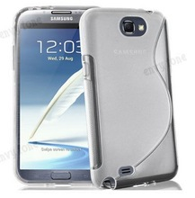 1Piece High Quality Accessory S-Styles TPU Silicone Case Cover Skin Protection Case For SAMSUNG GALAXY NOTE 2 N7100