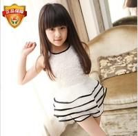 Baby & kids Brand New 2014 summer clothes girl's Lace sleeveless short skirts+Shorts set girls children clothing set