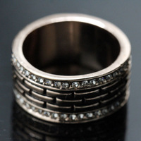 High Quality Clearl Crystal Promotion Fasion 18 K Gold Plated Engagement Wedding Rings For Women