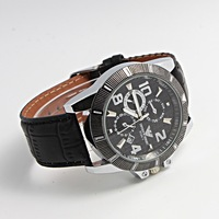 Free shipping on 2014 new fashion business 3 needle equipment calendar Leather Men's watches quartz watch