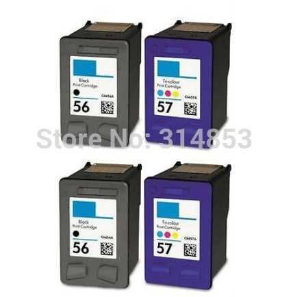 Картридж с чернилами Generic 4 HP56 HP57 56 57 Officejet 2110 4110 4215 4219 4255 HP Deskjet 5150 5550 5650 5850 PSC 2410 1315 ink cartridges for hp 56 57 xl hp56 hp57 officejet 5508 5510 5510v 5510xi 5515 6110 6110v 6150 j5500 j5508 j5520 psc 1315 2510